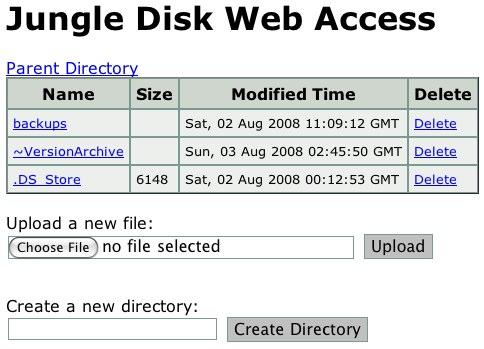 Jungle disk screenshot